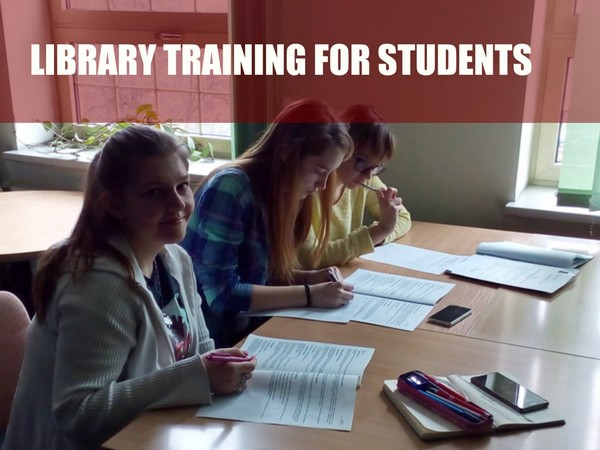 Library training for foreign students